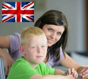 Professeur d'anglais et son élève