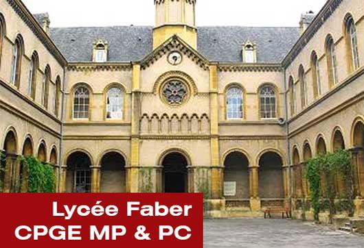 Lycée Faber CPGE MP et PC à Metz